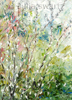 Spring time Pussy-willow note card