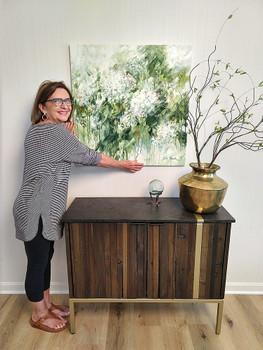 Julia and her White Hydrangea painting