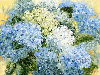 Hydrangea Flower Oil Painting on Canvas by Julia Swartz