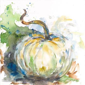 Silver Moon Harvest pumpkin note cards by Julia Swartz