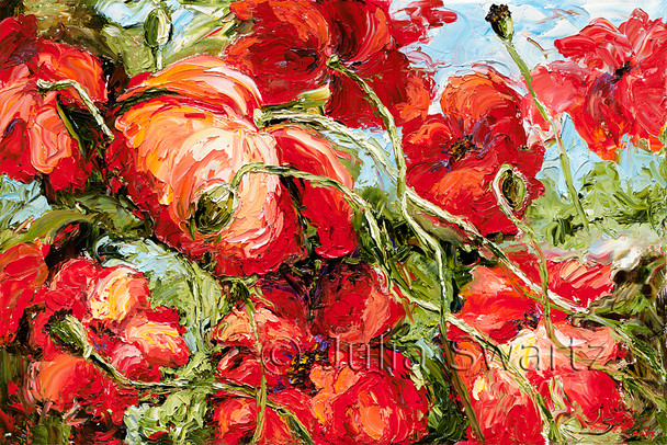 Red Poppies - Oil Painting
