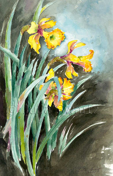 Daffodil Days - Watercolor Painting