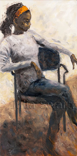 Am impressionism portrait oil painting of Dorothy by Julia Swartz, Lancaster PA