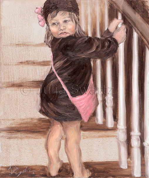 A portrait Oil paintings of Julia Swartz's granddaughter, Lancaster PA