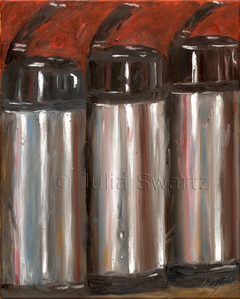 An Oil painting on canvas of Coffee Air pots