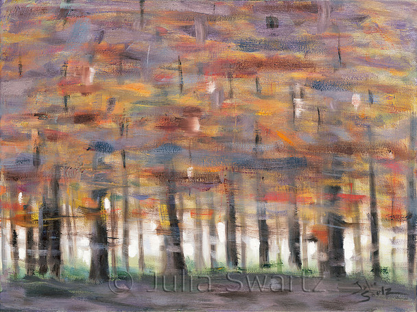 An abstract oil painting, High Speed, by Julia Swartz, Lancaster PA