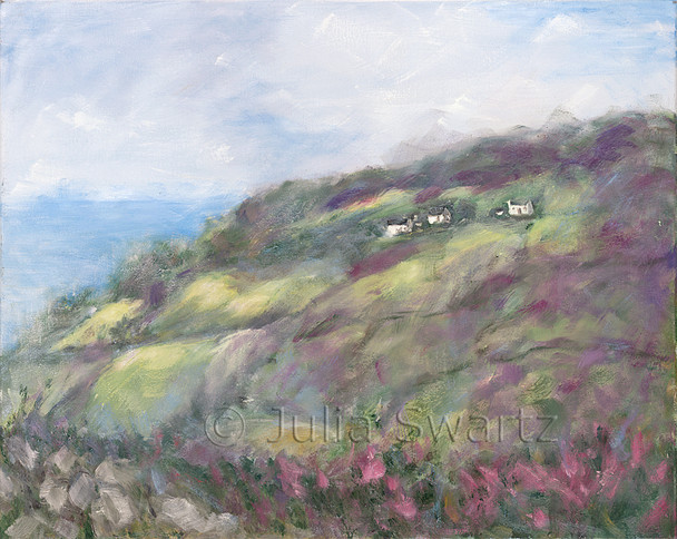 Original Oil paintings on canvas of an Ireland Landscape by Julia Swartz Lancaster PA