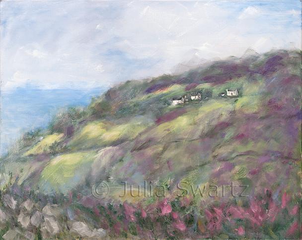 Original Oil paintings on canvas of an Ireland Landscape by Julia Swartz Lancaster PA