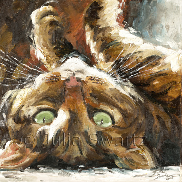 An oil painting of Max my cat.