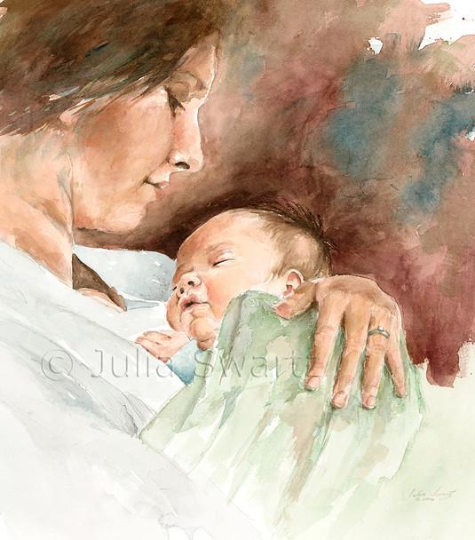 Figure watercolor painting by Julia Swartz