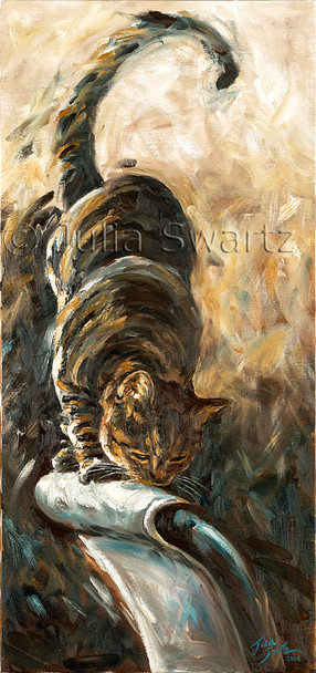 Original Oil painting of Max, Julia's beloved cat!
