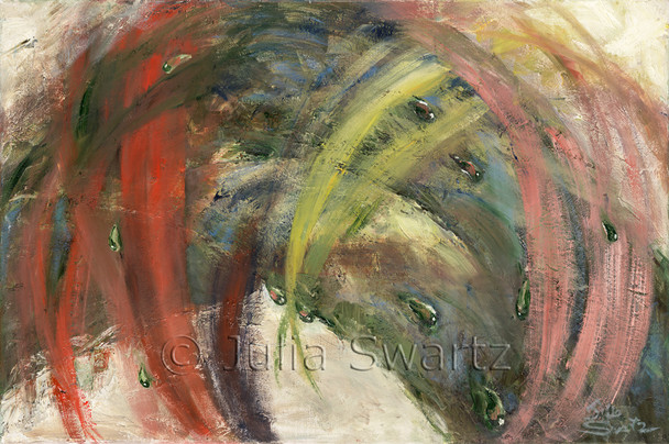 An abstract oil painting, Stir, by Julia Swartz Lancaster PA