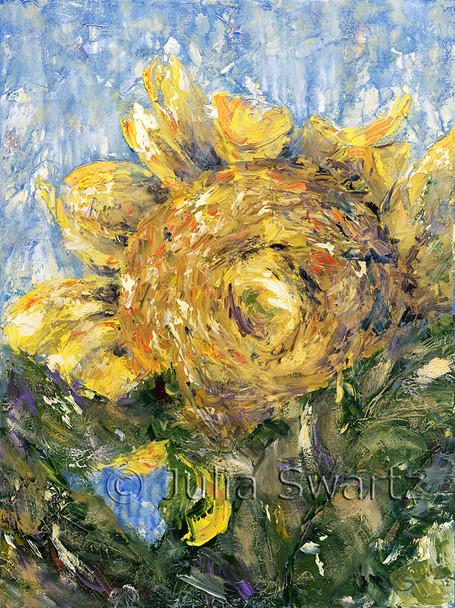 Original Oil paintings of Sun Flowers by Julia Swartz Lancaster PA