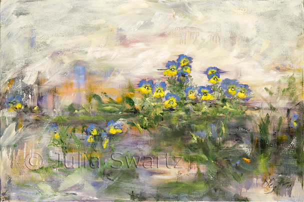 Original Oil painting of Violas by Julia Swartz Lancaster PA