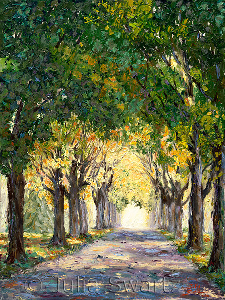 Lime Spring Lane - Landscape Oil Painting