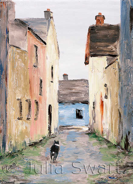 Alley Dog note card