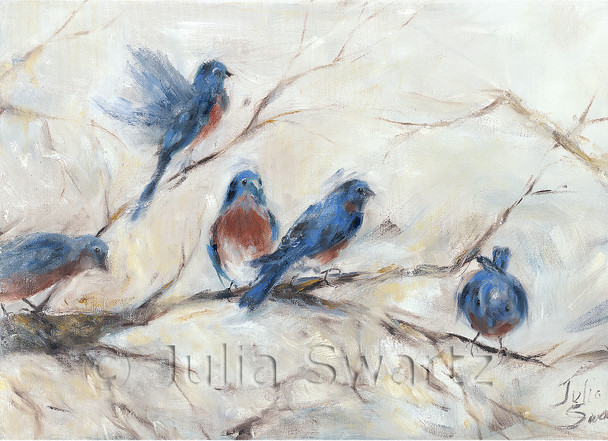 Note cards of bluebirds