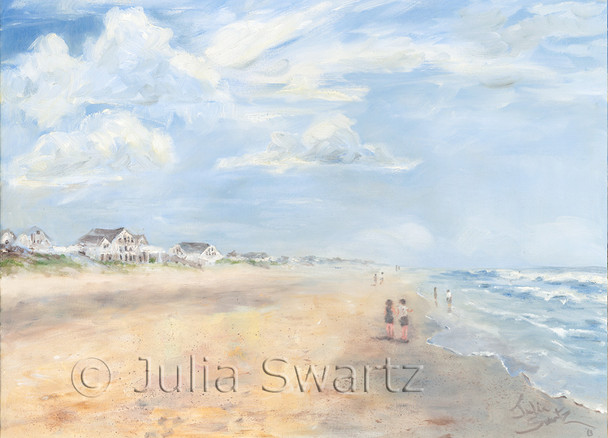 Beach walk note card by Julia Swartz at Outer banks