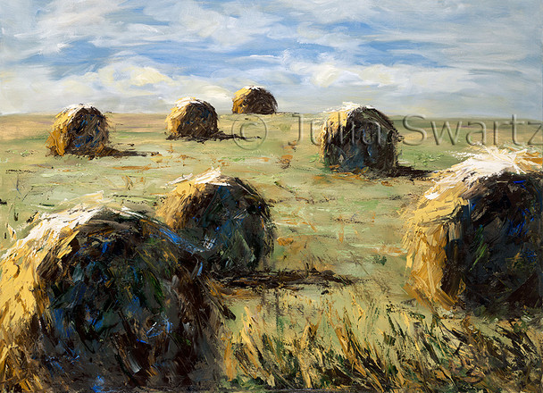 Note card of Hay bales