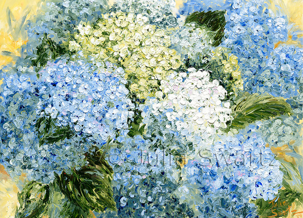 Hydrangea flower note cards by Julia Swartz