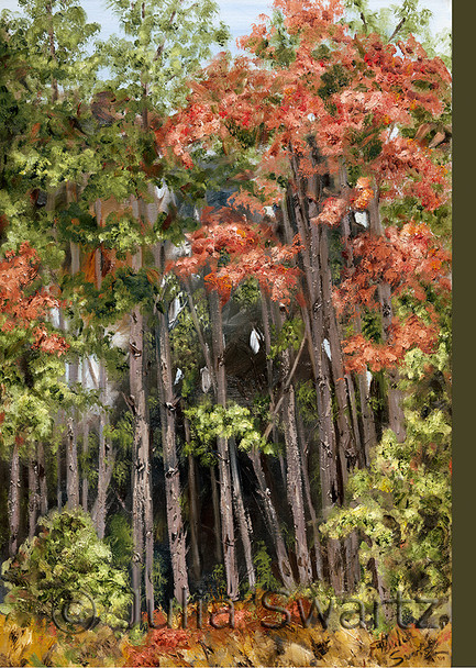Fall Forest note cards