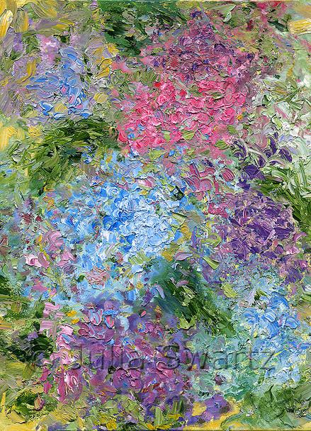Purple, Blue & Magenta note cards by Julia Swartz