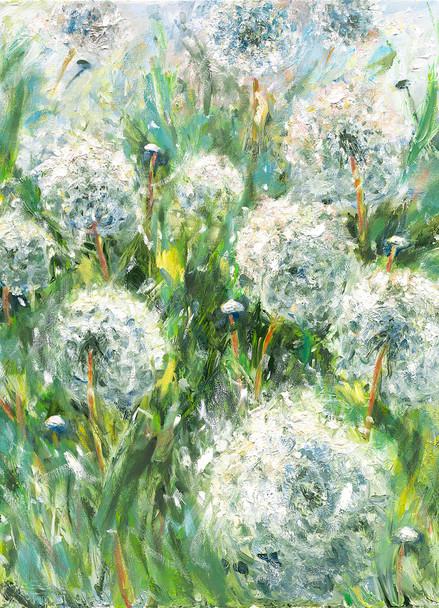 Dandelion Puffs note cards by Julia Swartz