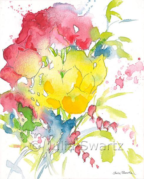 Summer Bouquet II note card by Julia Swartz