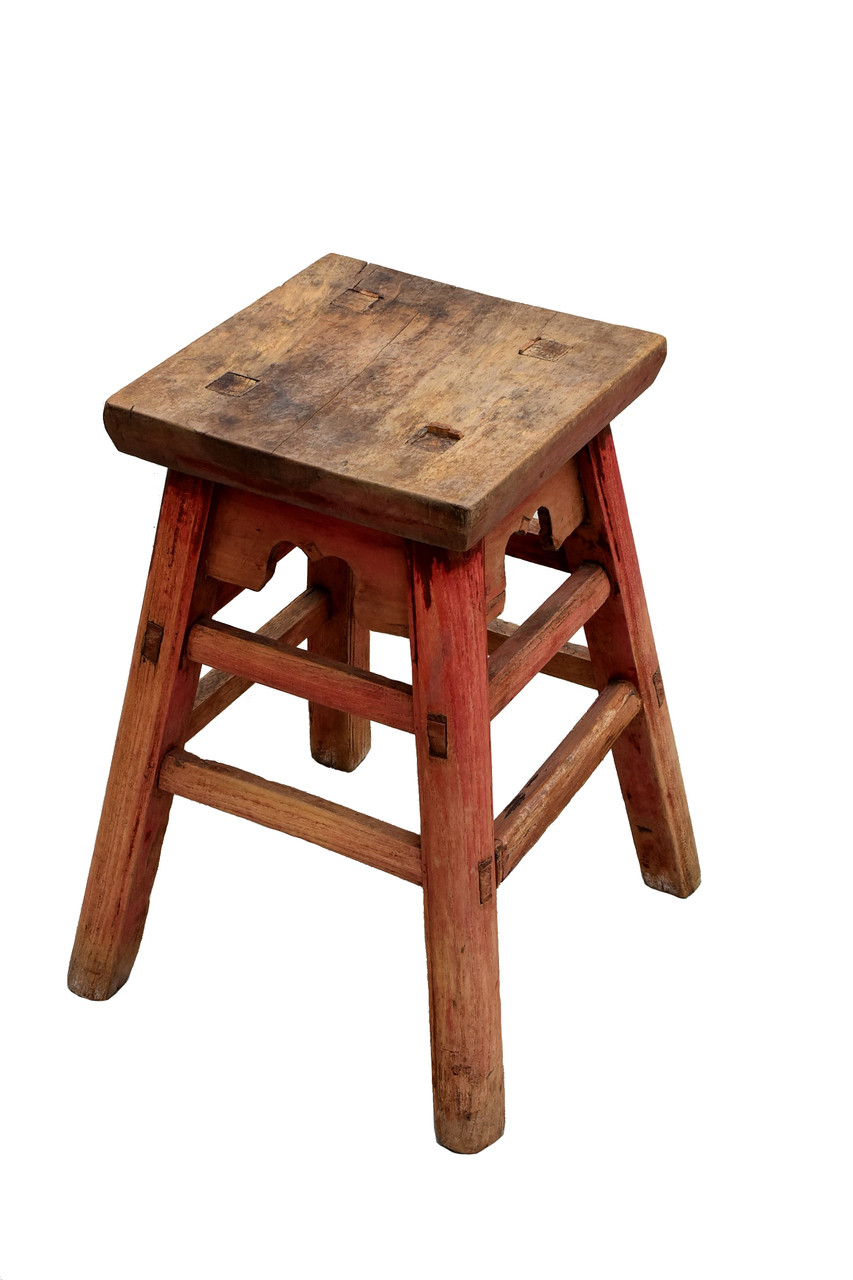 Surprising Antique Country Stool With Square Top Dailytribune Chair Design For Home Dailytribuneorg