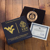 West Virginia University Ornament with Swarovski Crystals