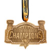 Pittsburgh Penguins Back to Back Champions Bronze Collector's Ornament with Swarovski Crystals