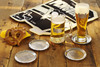 Pittsburgh Penguins Back to Back 4-Piece Coaster Set with Stacker