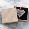 Heart Swarovski Wedding or Rememberance Ornament