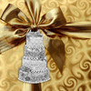 Engravable wedding cake ornament personalized