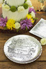 Mr & Mrs Floral Round Plate