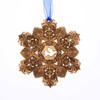 Limited Edition Peace Dove Snow Crystal Ornament (Bronze), snowflake, christmas, christmas ornament, collectible, swarovski, swarovski crystal