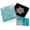 Snow Crystal Limited Edition Swarovski Crystal Bronze Ornament