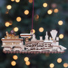 Santa's Train Ginger Cottage Ornament