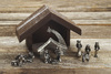 Reclaimed Wood Mini Nativity Creche