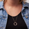 Wonderfully Made Ring Drop Necklace (Rose Gold)