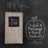 silverware sleeve with custom chalkboard