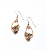 Copper Reflections Butterfly Earrings