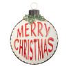 13 Inch Merry Christmas Holly Ornament