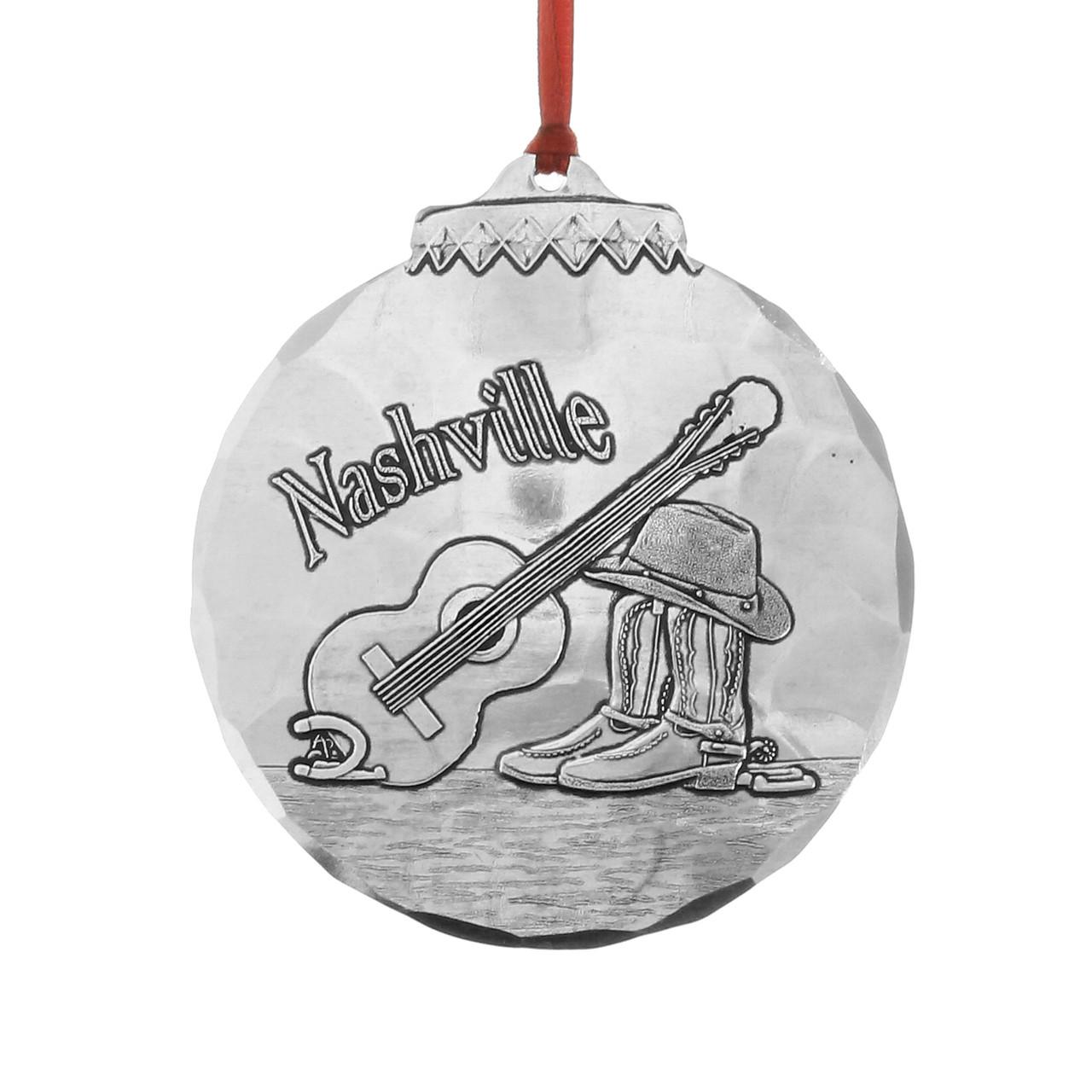 Christmas Music In August.Nashville Music City Ornament