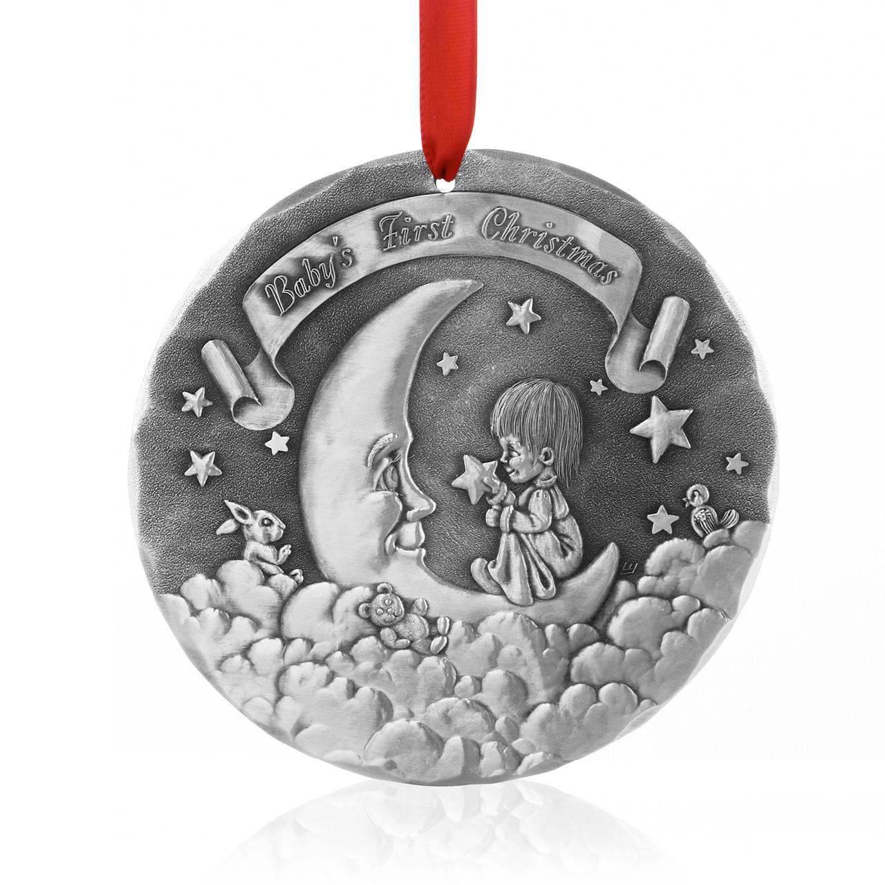 Personalized Baby S First Christmas Ornament Wendell August Forge