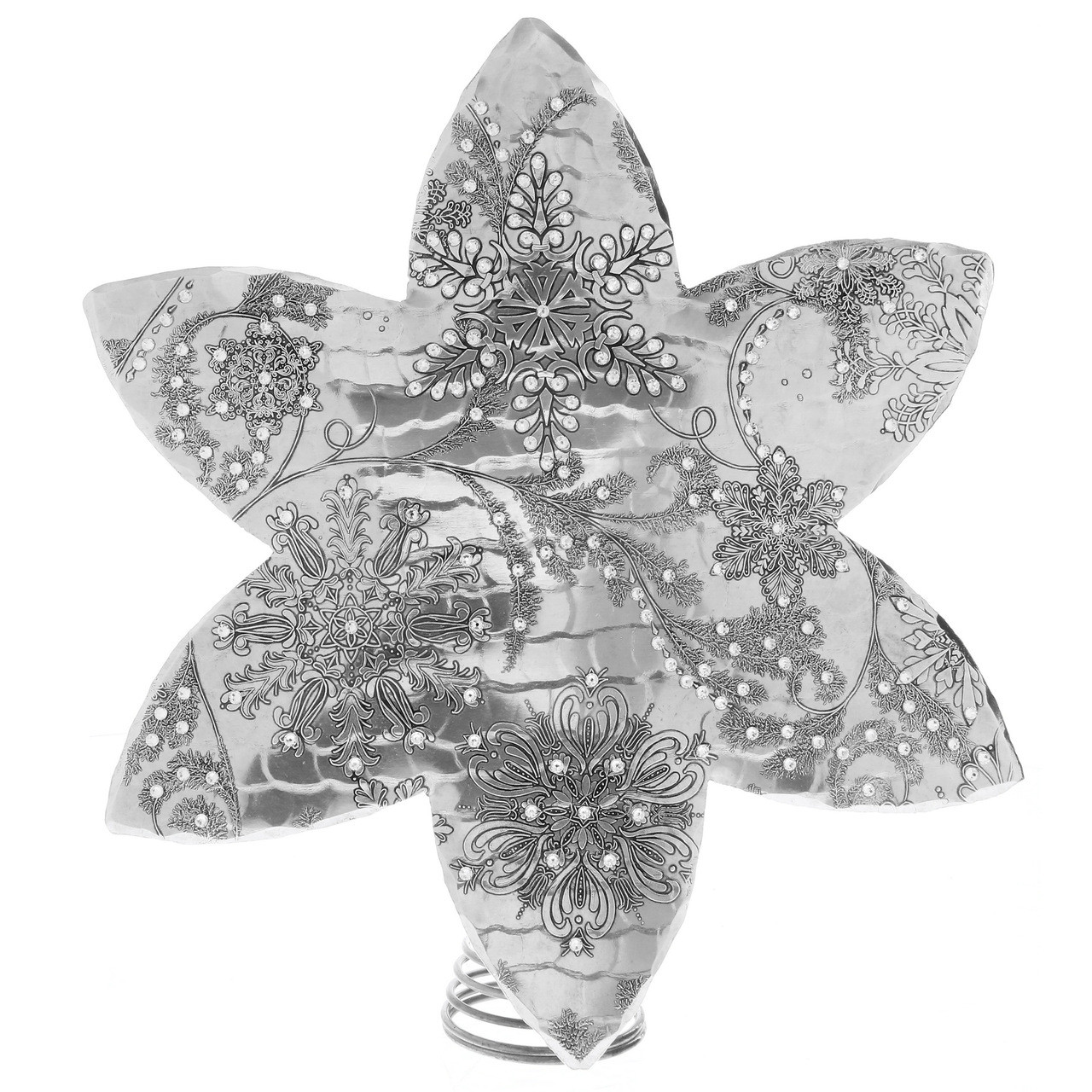 Wintersong Snowflake Tree Topper With Swarovski Crystals