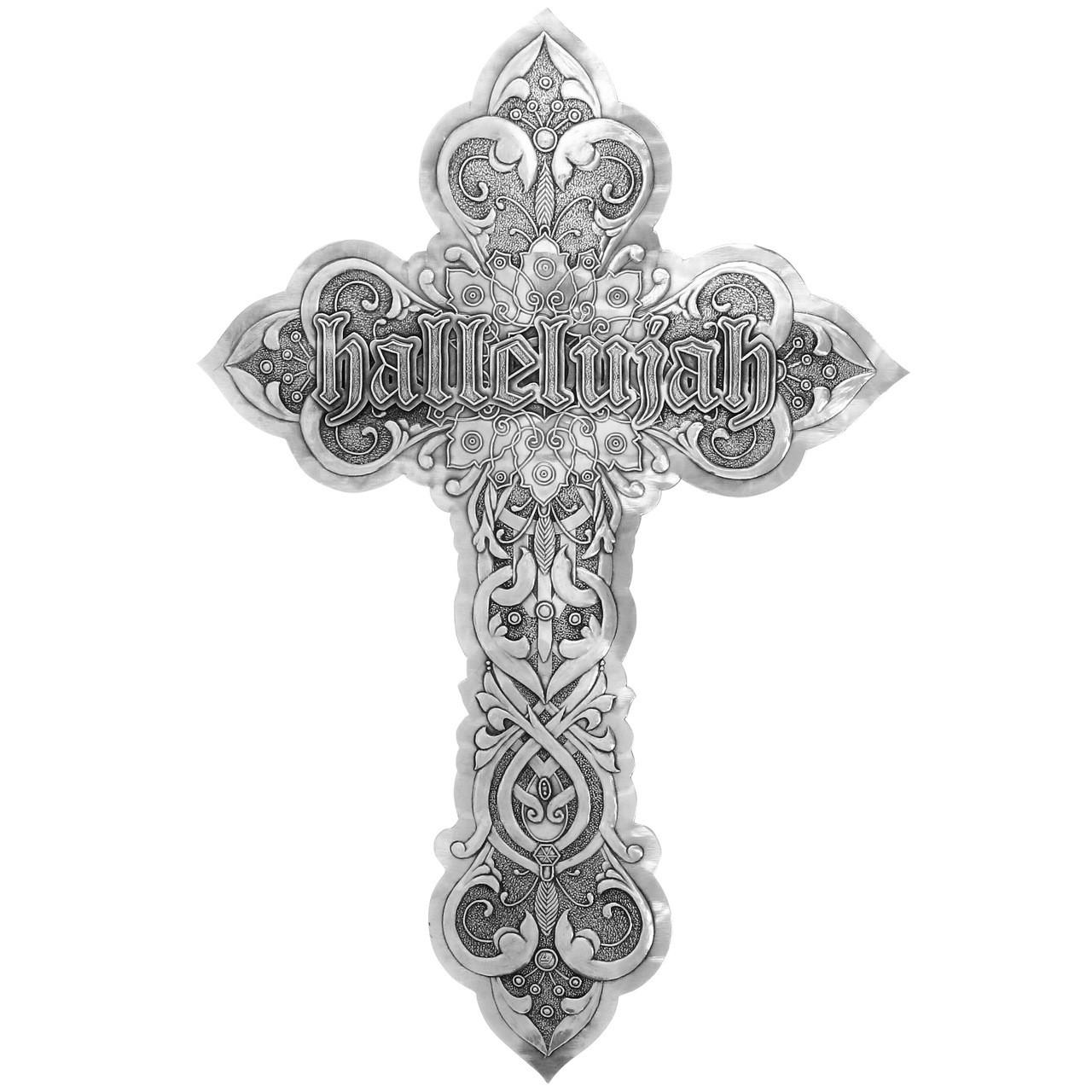Hallelujah Wall Cross Aluminum
