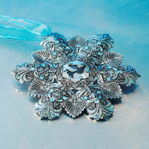 Snow Crystal Ornament with Crystals