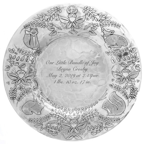 Woodland Personalized Baby Plate