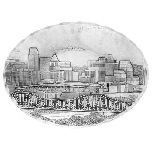 Cincinnati Skyline Small Oval Dish